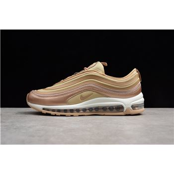 Mens and WMNS Nike Air Max 97 Ultra Metallic Bronze/White-Gum Light Brown 917704-902