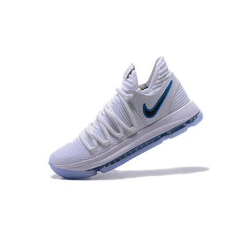 Nike KD 10 Numbers White/Game Royal-University Gold Basketball Shoes 897815-101