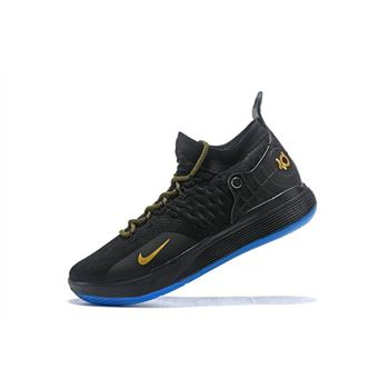 Men's Nike KD 11 Black/Metallic Gold On Sale