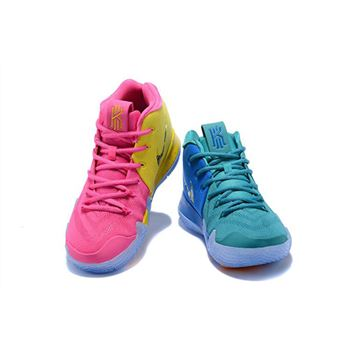 Nike Kyrie 4 Christmas Pink Teal For Sale