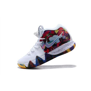Nike Kyrie 4 Madness NCAA White/Multi-Color Men's Size