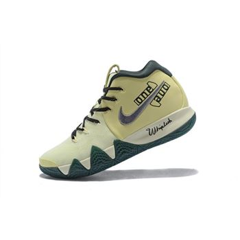 Nike Kyrie 4 PE Yellow Green Men's Size Basketball Shoes