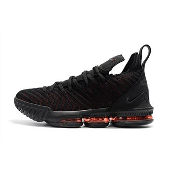 Nike LeBron 16 Bred Black Red Basketball Shoes For Sale