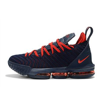 Nike LeBron 16 Navy Blue/University Red Basketball Shoes On Sale