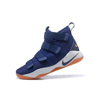 Nike LeBron Soldier 11 Cavs Midnight Navy/Metallic Gold-White 897644-402