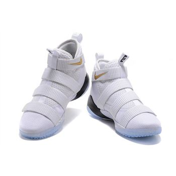 Nike LeBron Soldier 11 Court General White/Metallic Gold-Black 897644-101