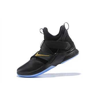 Nike LeBron Soldier 12 Black/Metallic Gold For Sale