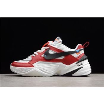 premium selection a091c 3ca48 2018 Off-White x Nike M2K Tekno Red White Black A03108-060