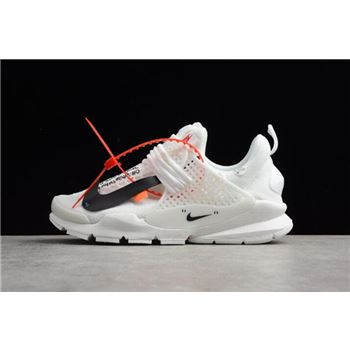 best website aa489 1fad4 Custom Off-White x Nike Sock Dart In White 819686-058