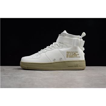 Men's and Women's Nike SF Air Force 1 Mid Ivory/Ivory-Neutral Olive 917753-101